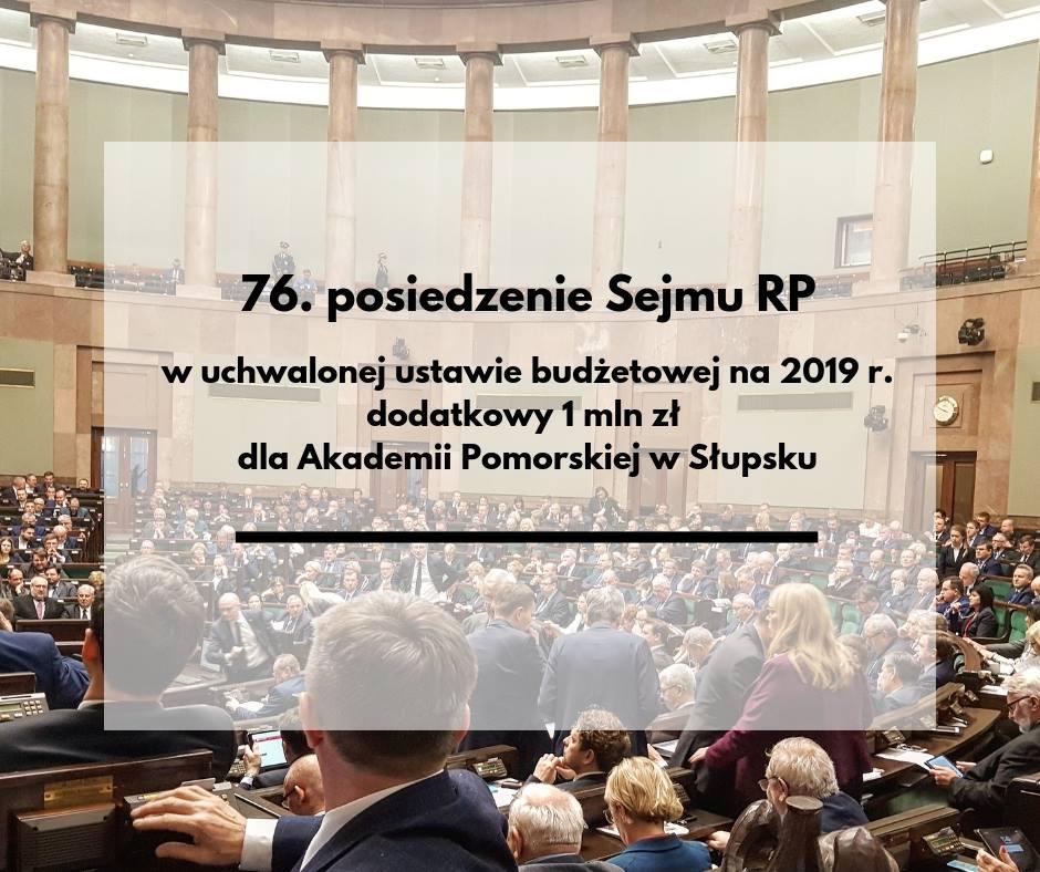 Sejm RP uchwalił dodatkowy milion dla Akademii Pomorskiej w Słupsku