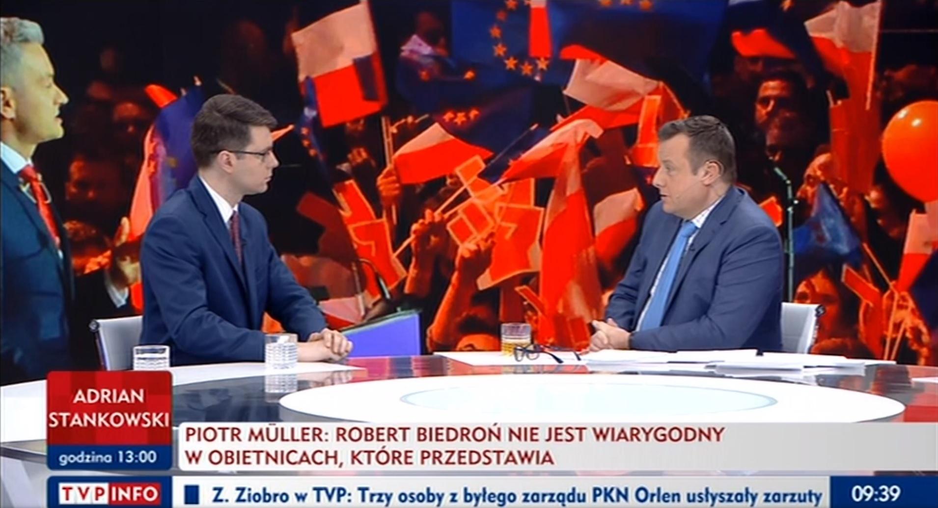 Poranek TVP INFO: rozmowa z posłem, wiceministrem nauki i szkolnictwa wyższego Piotrem Müllerem