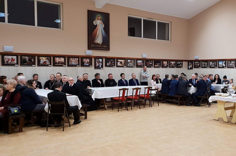 Poseł Piotr Müller był gościem spotkania opłatkowego katolickiego stowarzyszenia Civitas Christiana.
