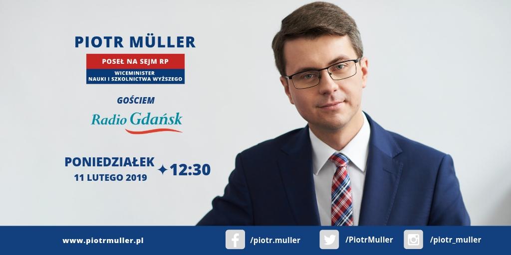 Gość audycji w Radiu Gdańsk