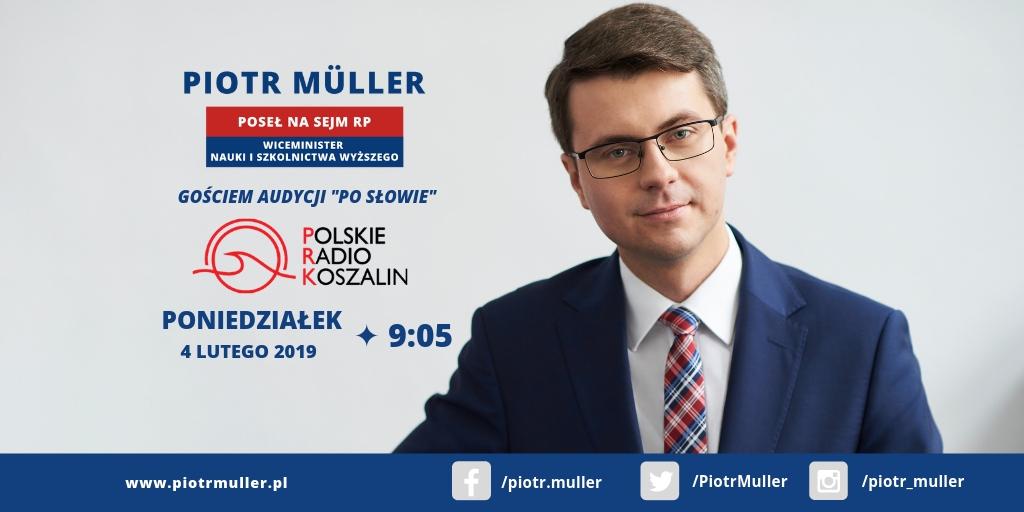 """Gość audycji """"Po Słowie"""" w Polskim Radiu Koszalin – Słupsk"""