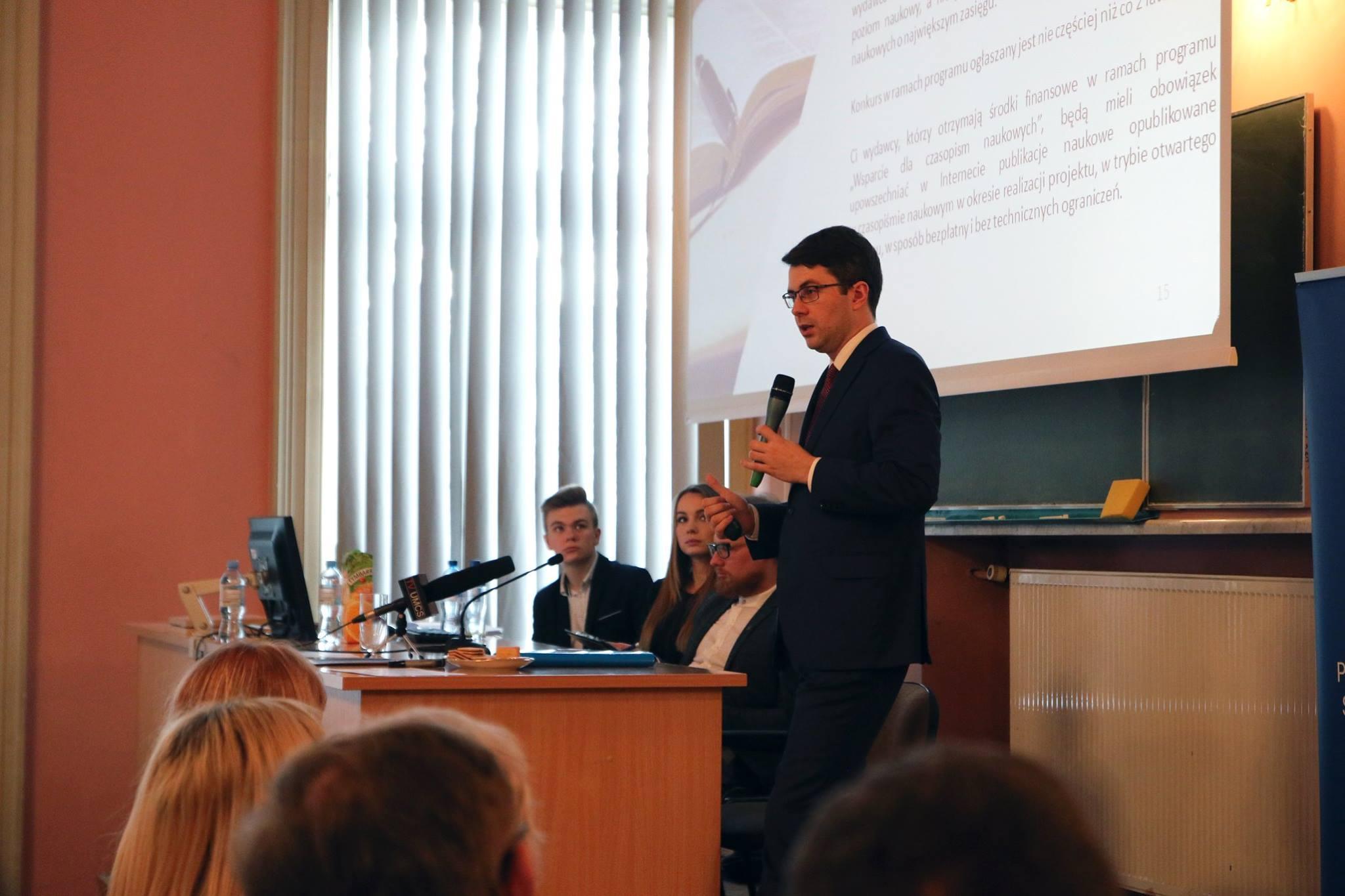 Spotkanie ze studentami w Lublinie