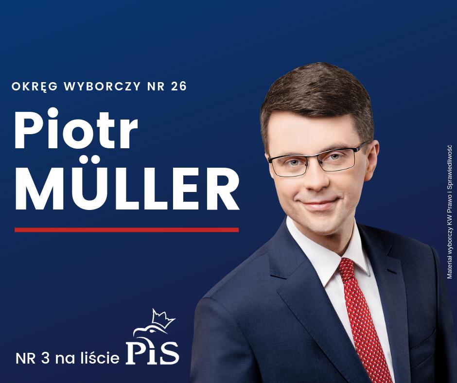 Rzecznik rządu Piotr Müller numerem 3 gdyńsko-słupskiej listy PiS