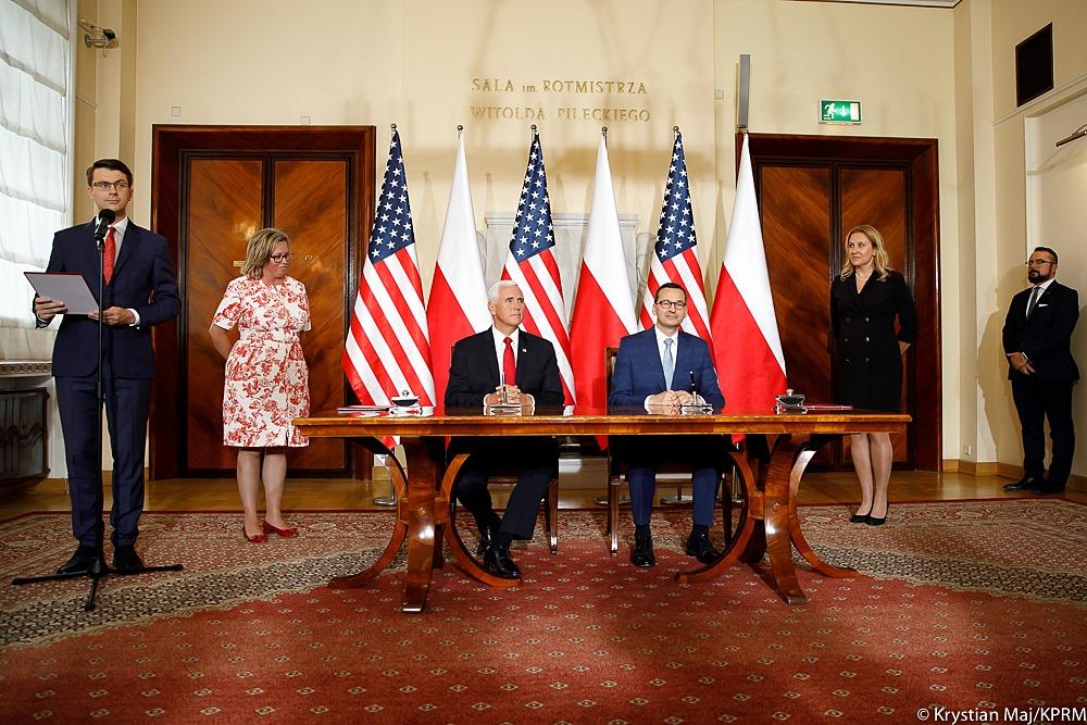 Wiceprezydent Stanów Zjednoczonych  Mike Pence odwiedził Polskę