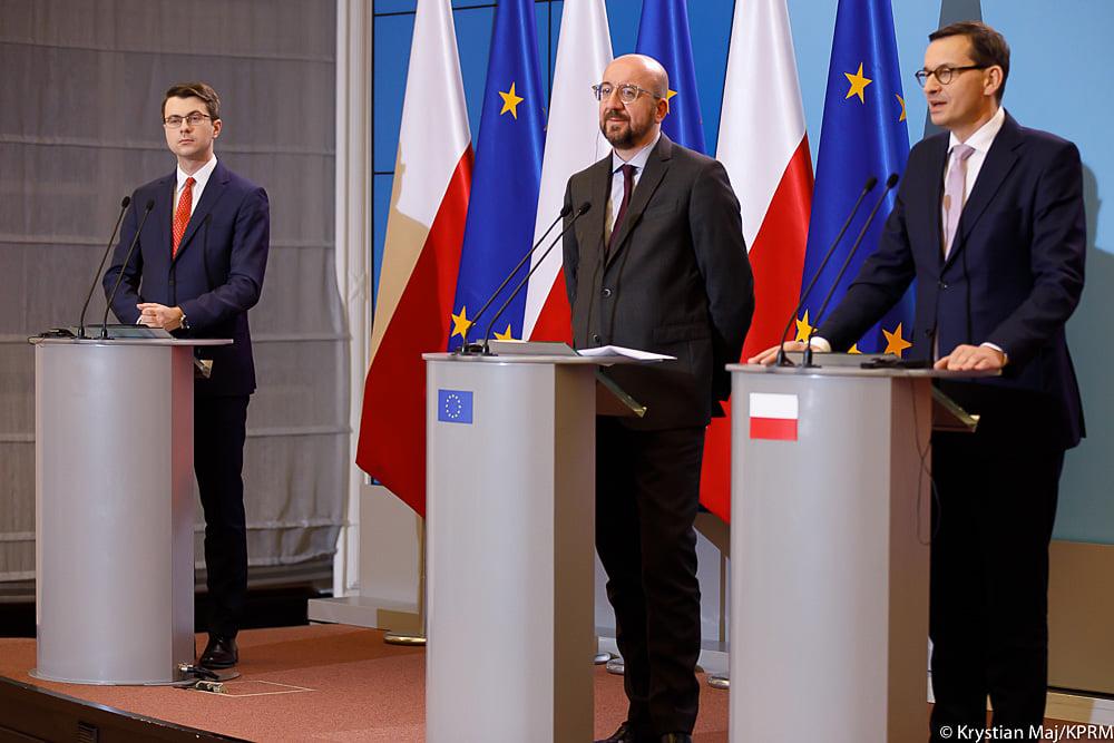 Przewodniczący-elekt Rady Europejskiej Charles Michel odwiedził Warszawę