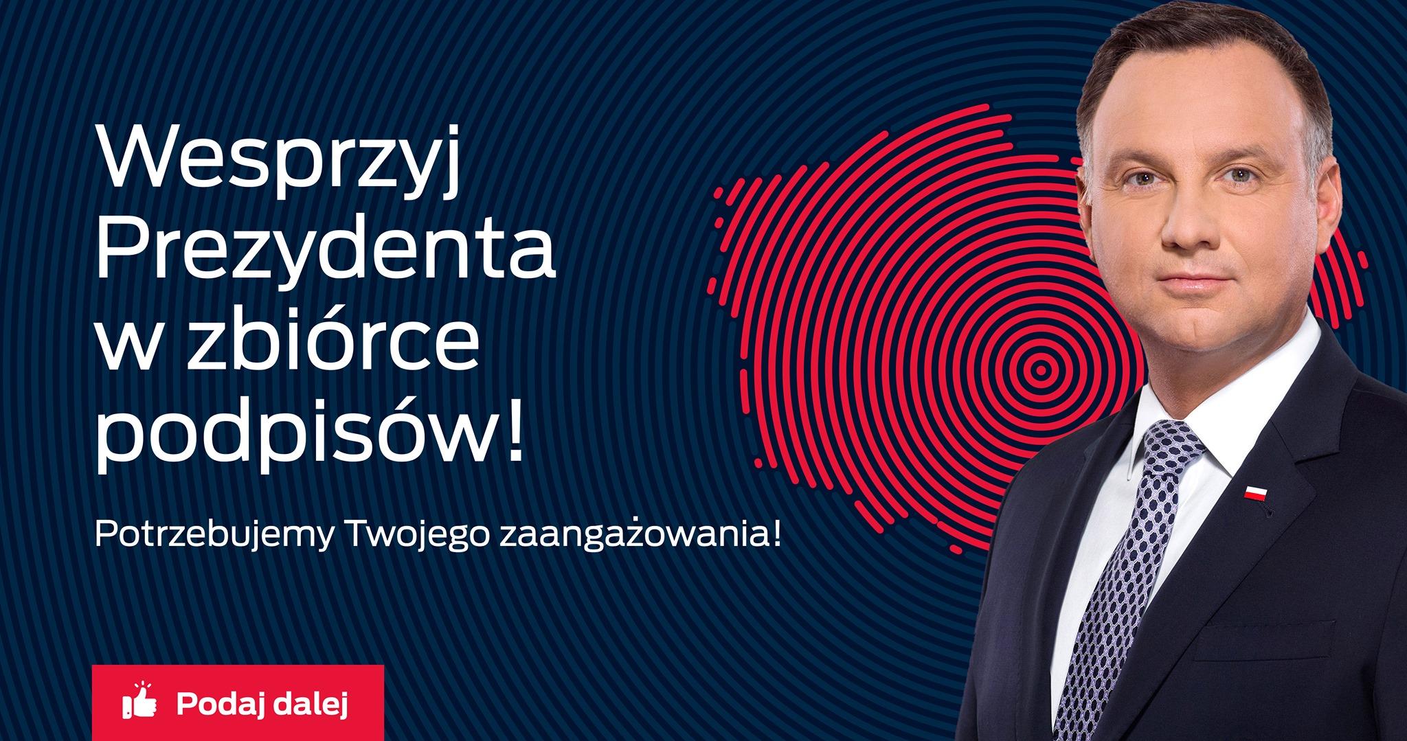 Wesprzyj Prezydenta Andrzeja Dudę