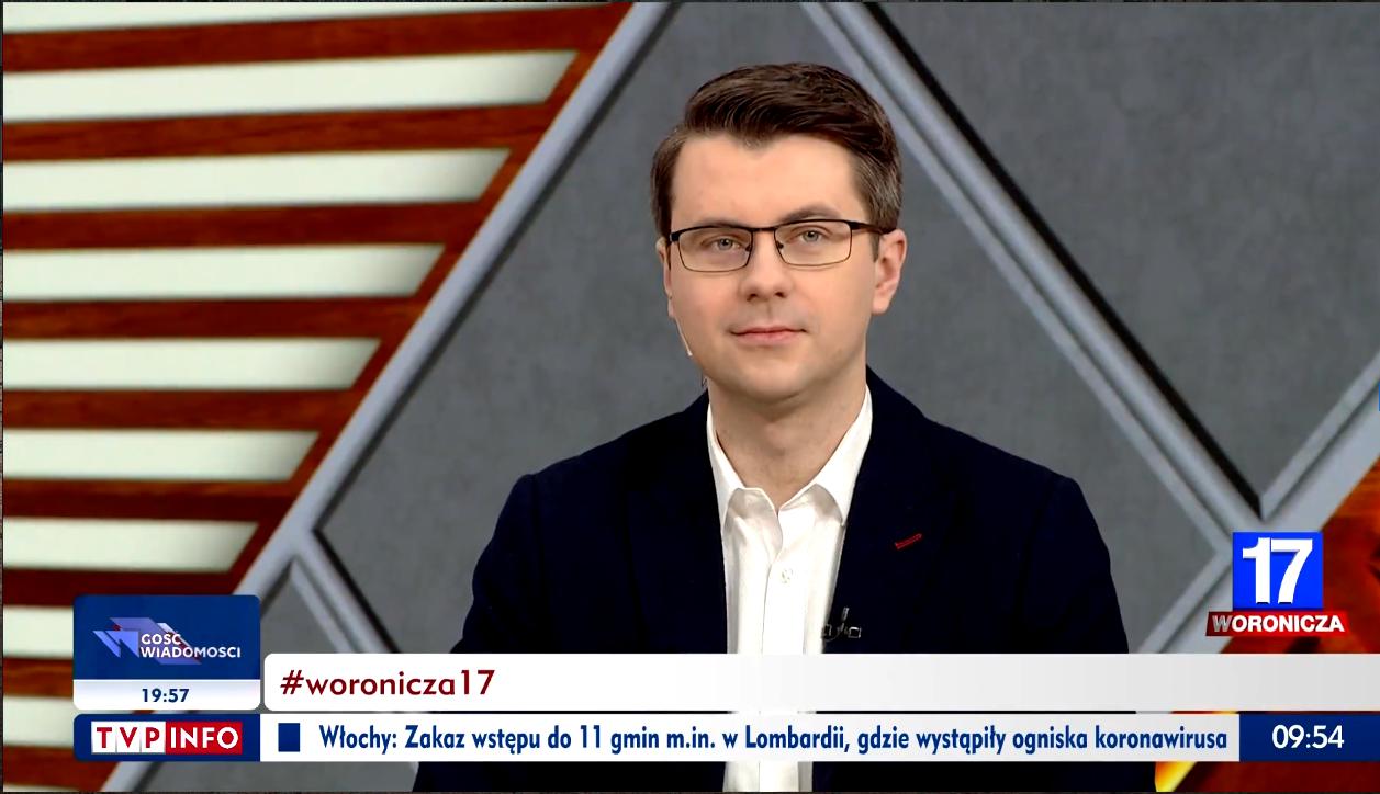 Piotr Müller w programie Woronicza 17