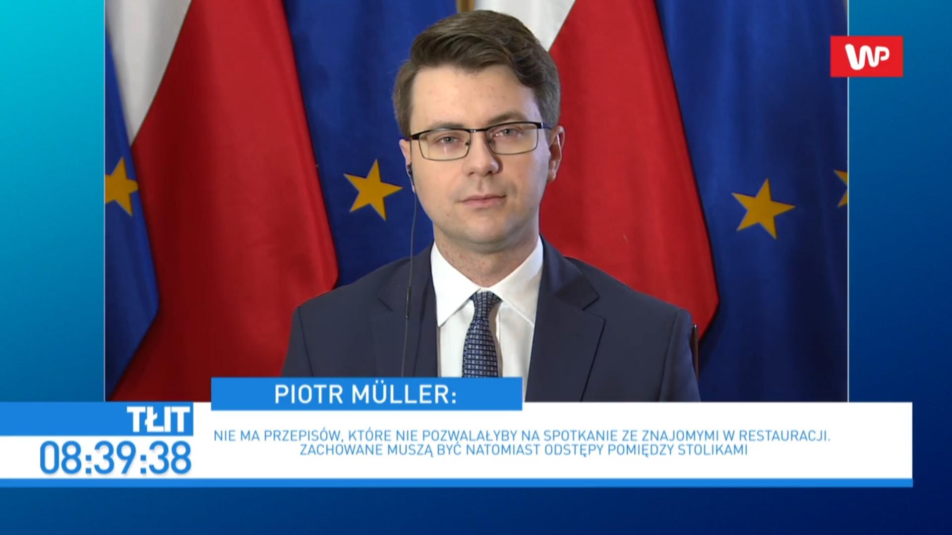 Termin kolejnego etapu odmrażania gospodarki ogłosimy prawdopodobnie  na przełomie tego i przyszłego tygodnia. Analizujemy bieżącą sytuację.  Przygotowujemy wytyczne i zalecenia dla branż, które będą mogły wkrótce  wrócić do swojej działalności - powiedział rzecznik rządu Piotr Müller.