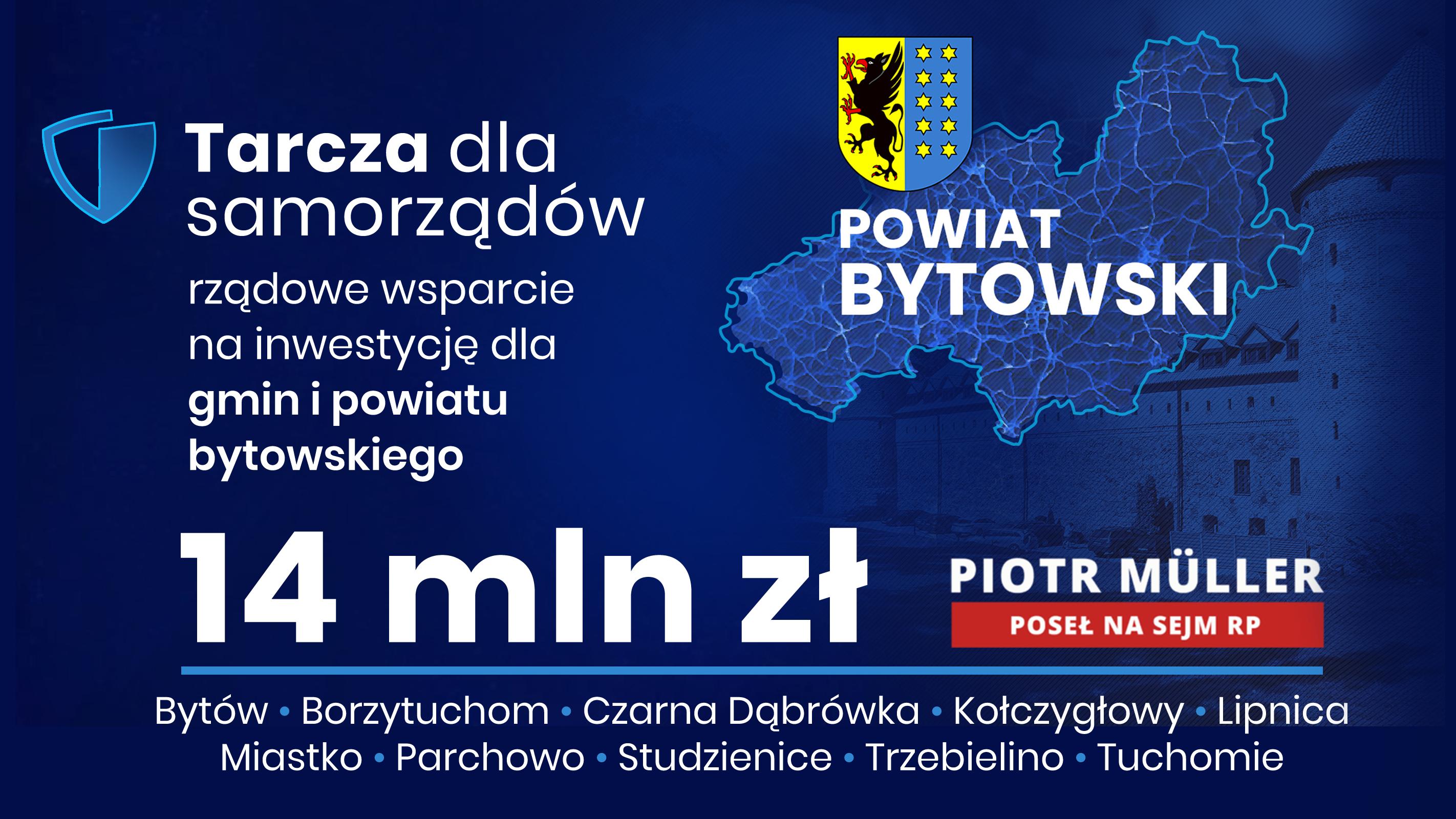 14 mln zł dla regionu bytowskiego