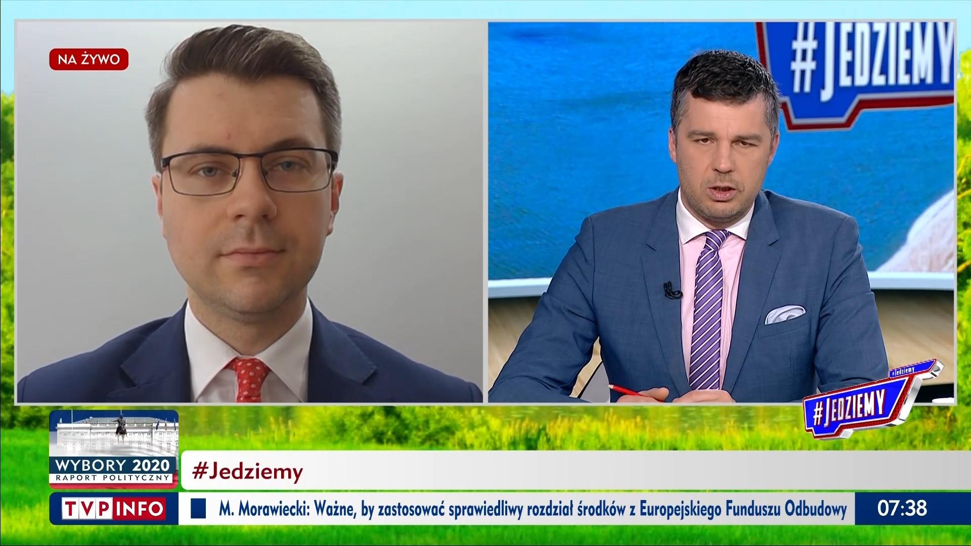 #Jedziemy w TVP Info z udziałem Piotra Müllera