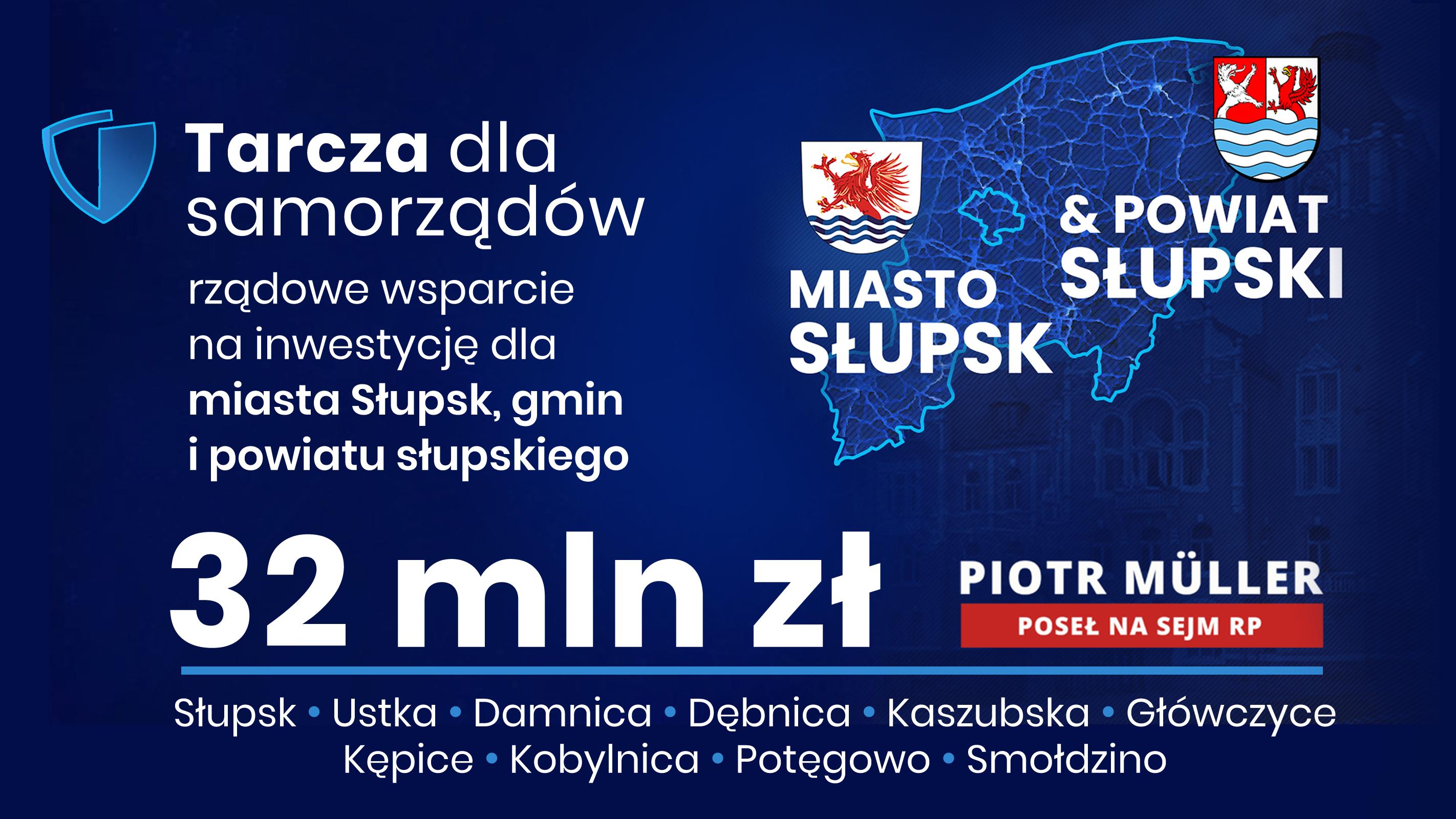 To dodatkowe środki w ramach Tarczy Dla Samorządów. Zostały przydzielone niezależnie od rekompensat dla regionu słupskiego w wysokości 115 mln przyznanych za budowę tarczy  antyrakietowej.