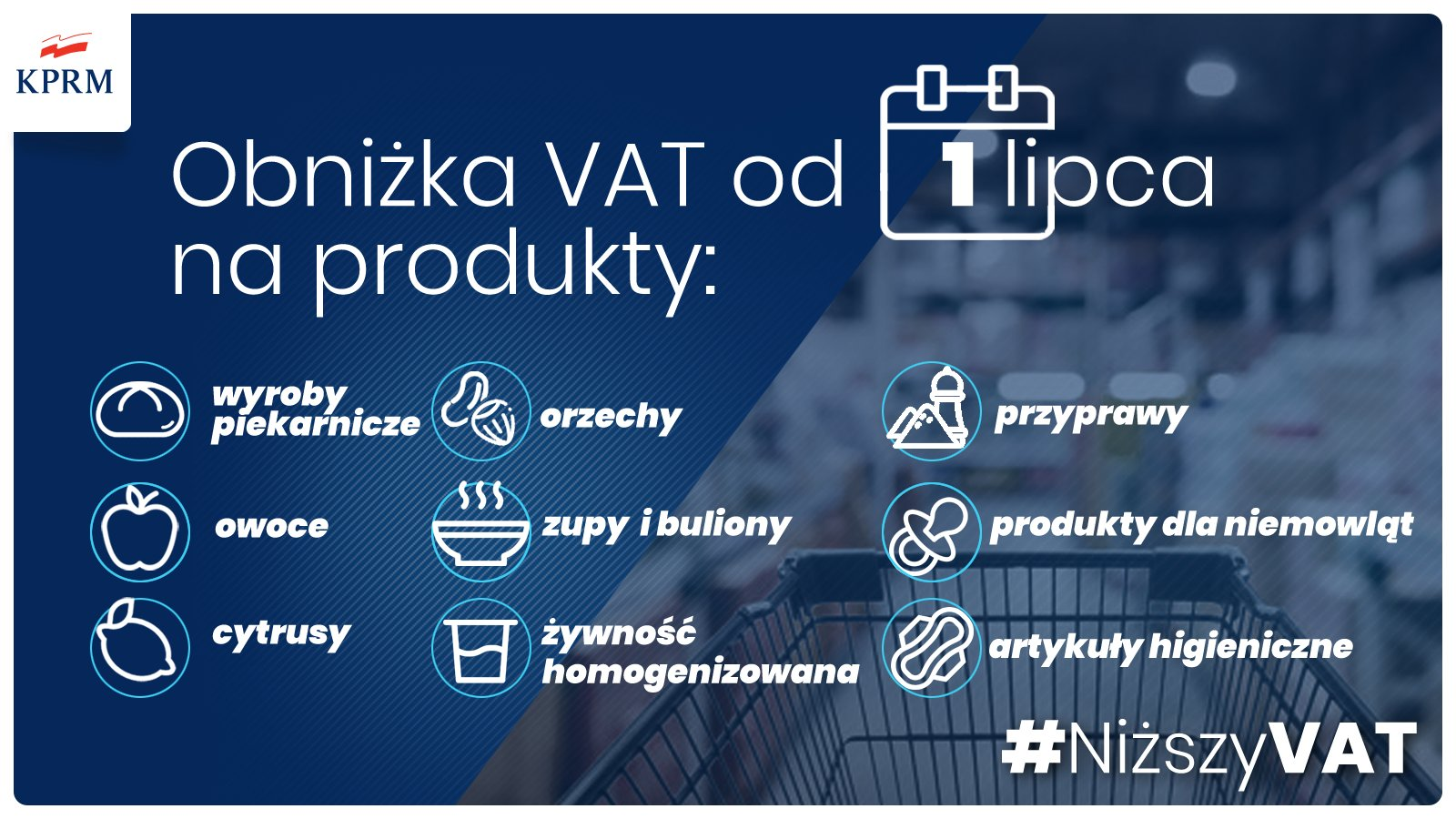 Rząd obniża podatek VAT na wiele towarów