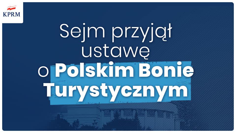 Bon Turystyczny przyjęty przez Sejm Rzeczypospolitej Polskiej