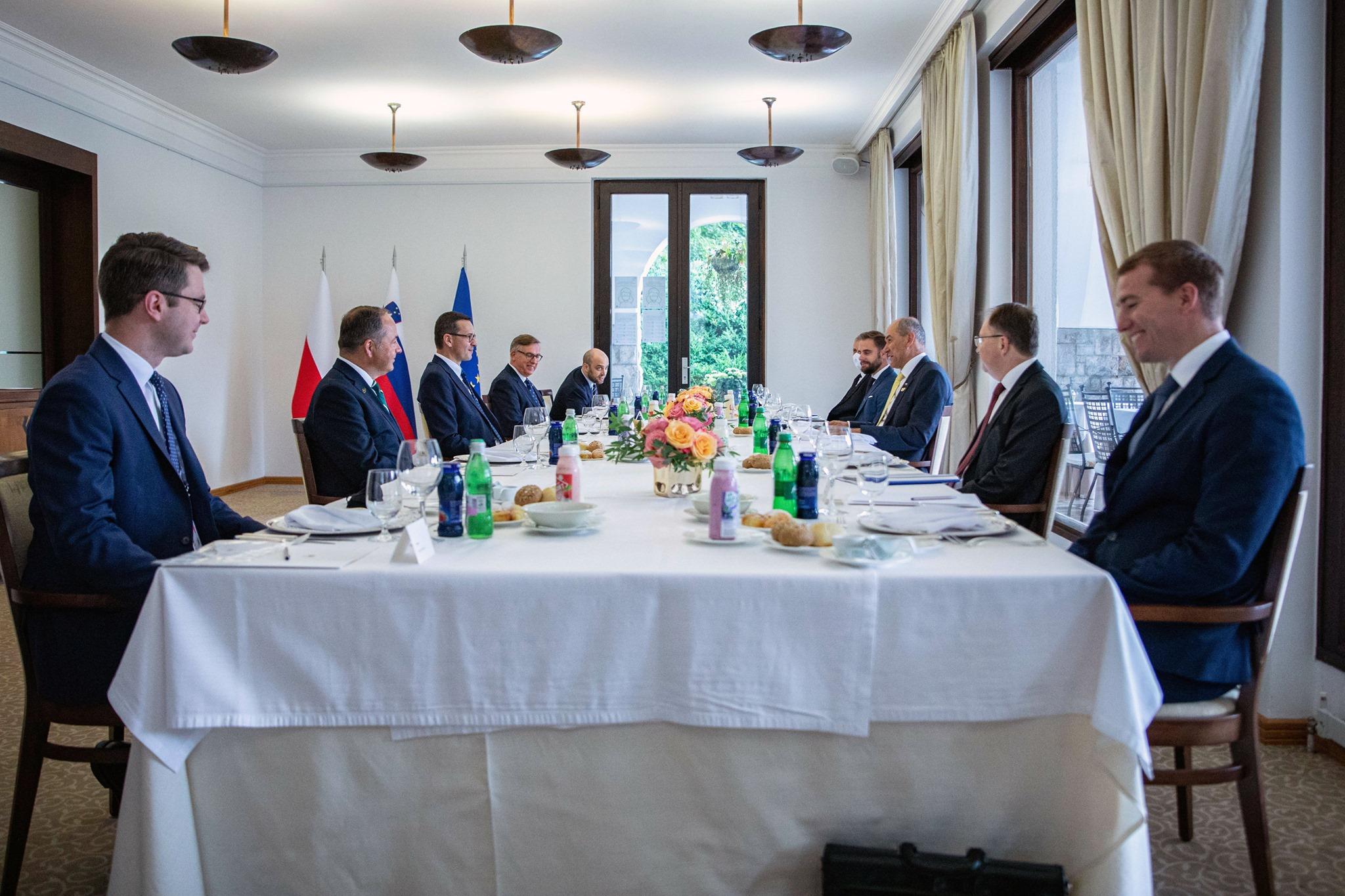 Spotkanie z premierem Słowenii Janez Janša w Bled