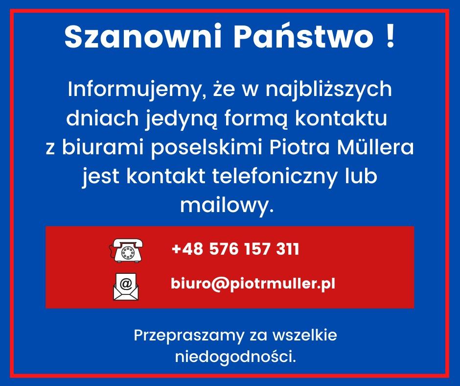 Od poniedziałku 19 października 2020 roku nasze biura w Słupsku, Lęborku i Ustce są zamknięte dla interesantów. Prosimy o kontakt drogą mailową lub kontakt telefoniczny.
