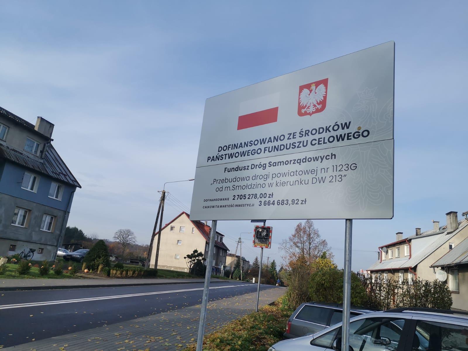 Zakończono remont drogi Smołdzino – Żelazo