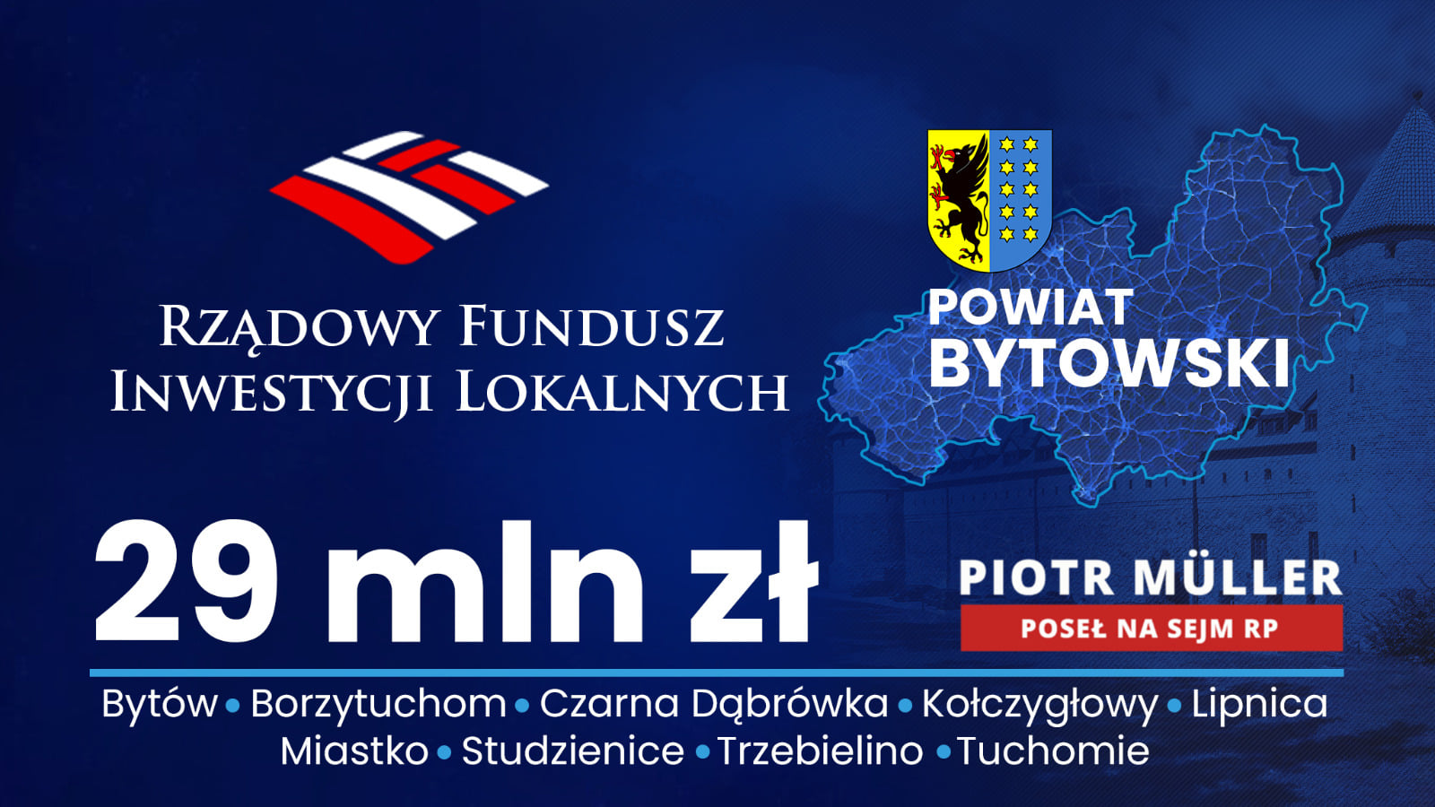 Rządowy Fundusz Inwestycji Lokalnych w regionie bytowskim