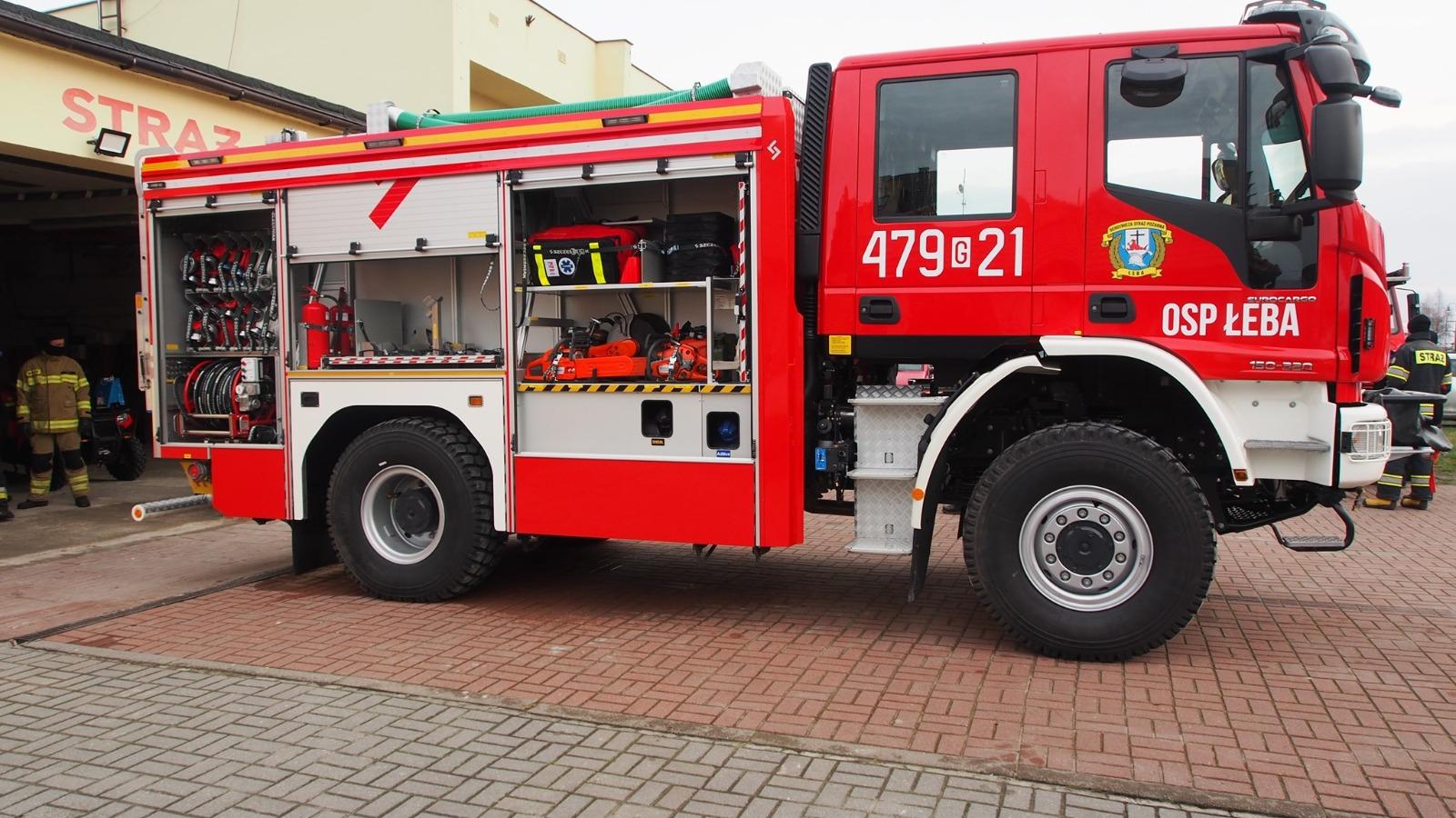 Łeba zwyciężyła wóz strażacki