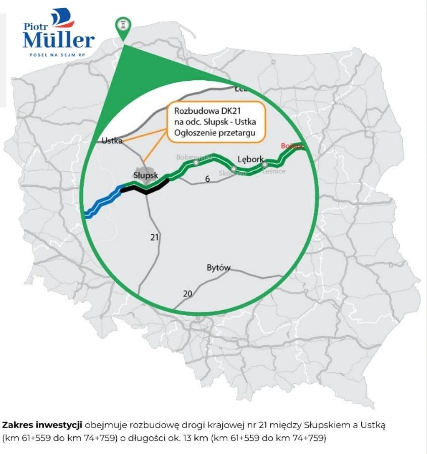 Ruszają przetargi na kolejne odcinki najważniejszych  dróg w naszym regionie – S6 i DK21