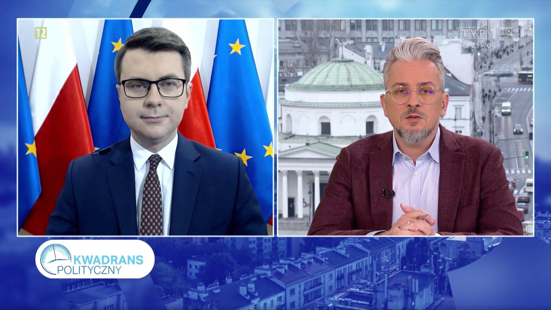 W poniedziałkowy poranek Piotr Müller, rzecznik rządu i Poseł na Sejm RP gościem programu Kwadrans polityczny w TVP1.