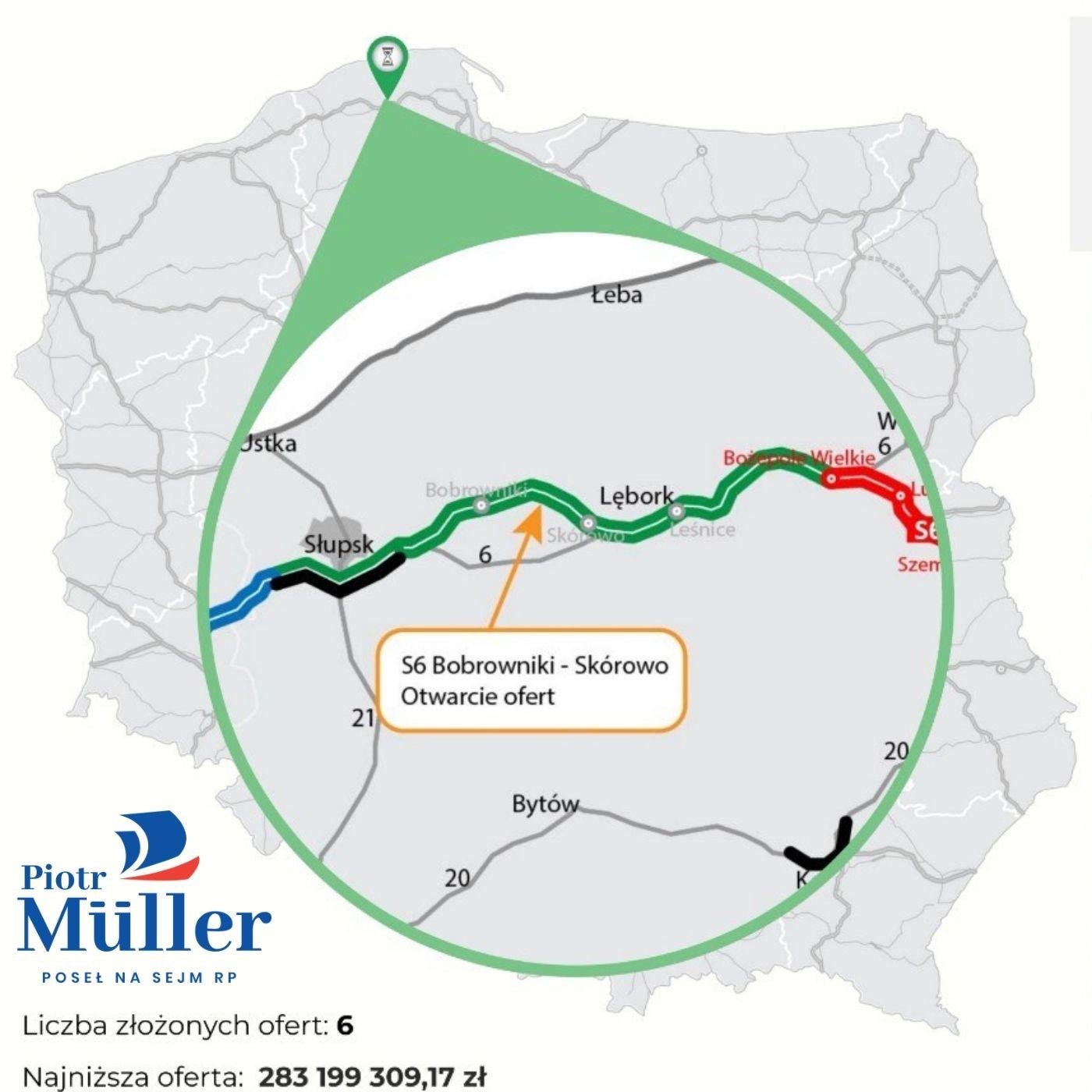 Otwarcie ofert na kolejny odcinek trasy S6 Bobrowniki – Skórowo