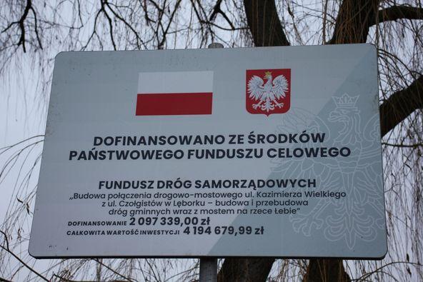 Budowa połączenia drogowo-mostowego ulic Czołgistów i Kazimierza Wielkiego w Lęborku przebiega zgodnie z planem.