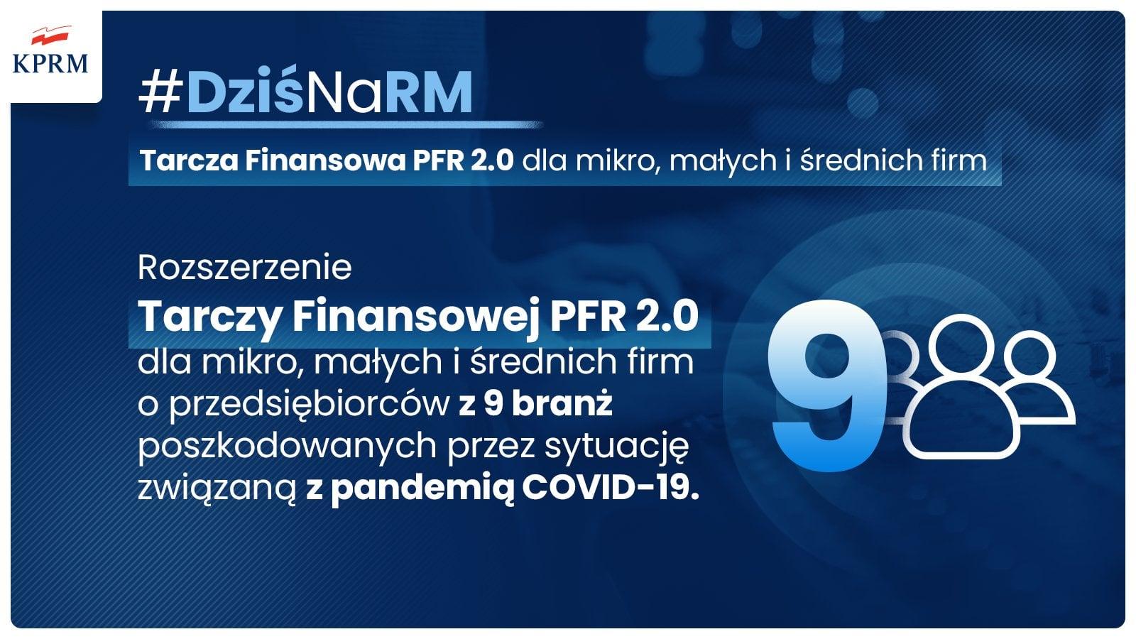 Tarcza Finansowa 2.0 PFR – rozszerzenie pomocy dla 9 branż