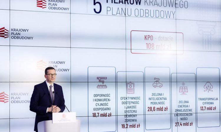 Krajowy Plan Odbudowy powstaje w Ministerstwo Funduszy i Polityki Regionalnej. Jest podstawą do skorzystania z Instrumentu Odbudowy i Zwiększenia Odporności. Wartość Instrumentu to 750 miliardów euro. Z tej puli Polska będzie miała do dyspozycji około 58 miliardów euro.