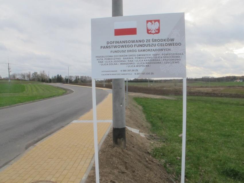 W ramach Rządowego Funduszu Rozwoju Dróg (Fundusz Dróg Samorządowych) gmina Przodkowo wyremontowała 7 dróg o łącznej wartości dofinansowania ponad 4,5 mln zł.