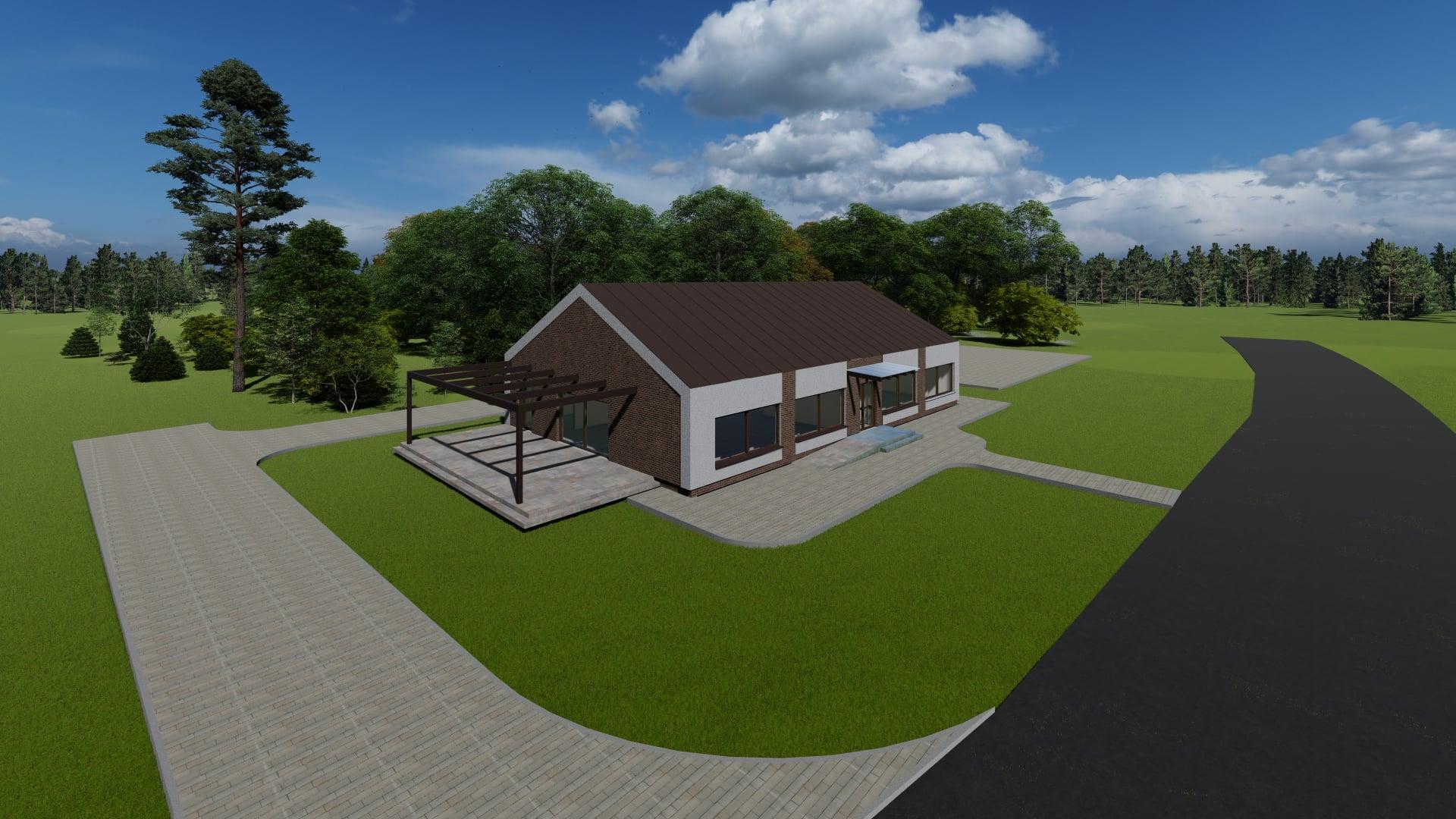 Koncepcja budowy budowy Lokalnego Centrum Kultury w Bobrownikach