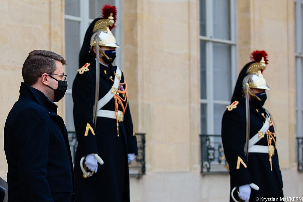 Spotkanie premiera Mateusza Morawieckiego z prezydentem Francji Emmanuelem Macron