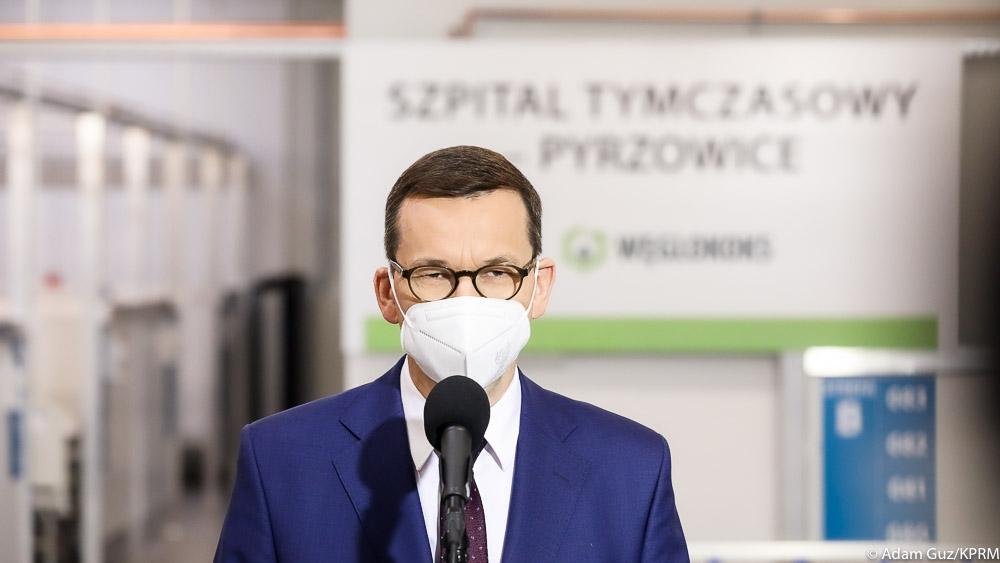 Premier Mateusz Morawiecki odwiedził szpital rezerwowy w Katowicach – Pyrzowicach