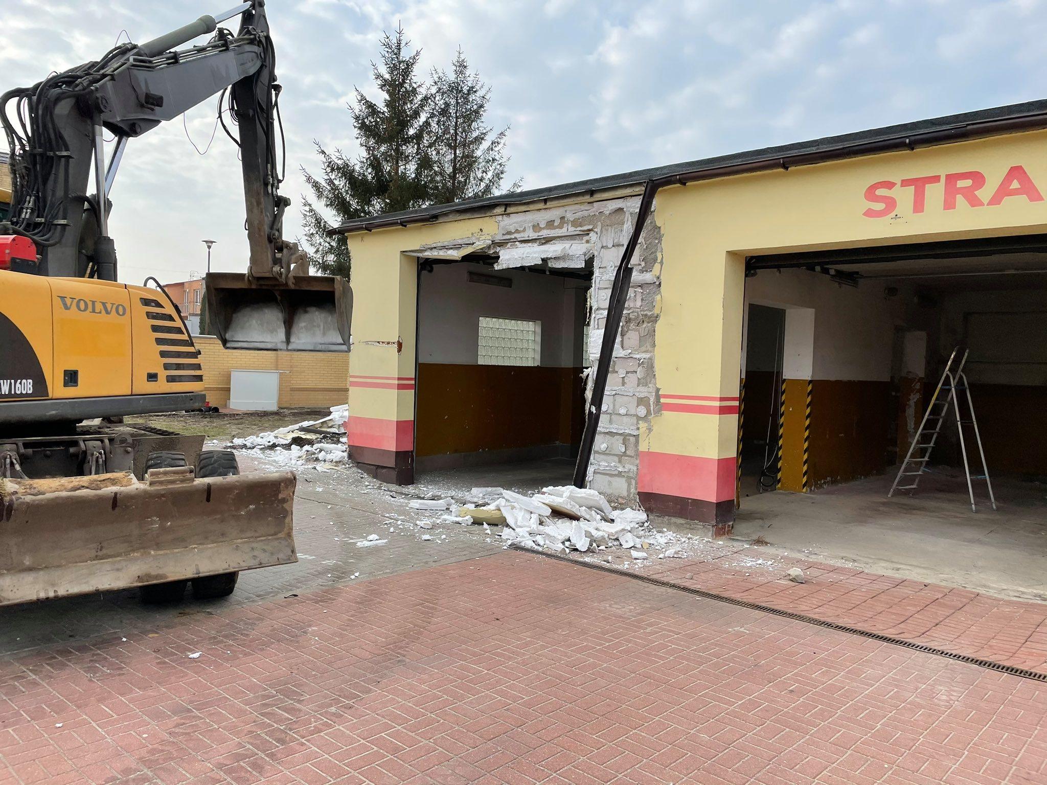 Modernizacja remizy strażackiej Ochotniczej Straży Pożarnej w Łebie