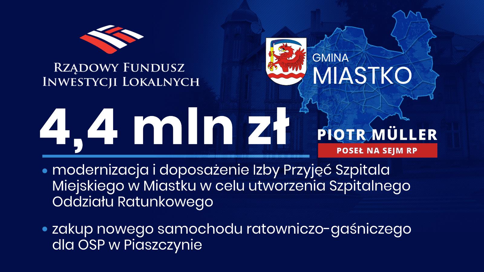 4 mln złotych na kolejne inwestycje w Szpitalu Miejskim w Miastku!