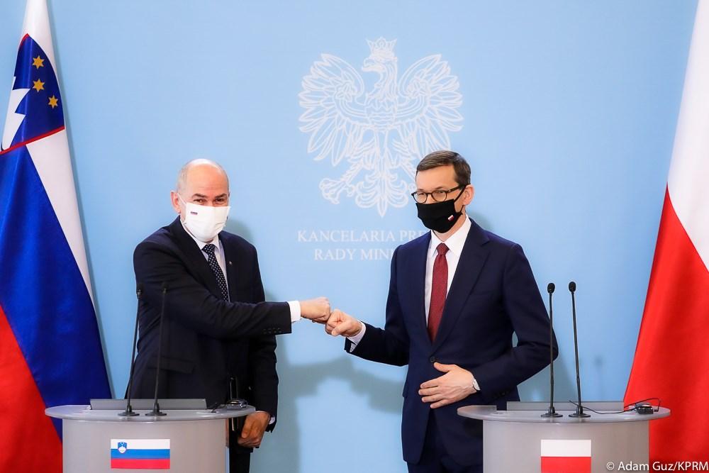 Spotkanie premiera Mateusza Morawieckiego z premierem Republiki Słowenii Janezem Jan