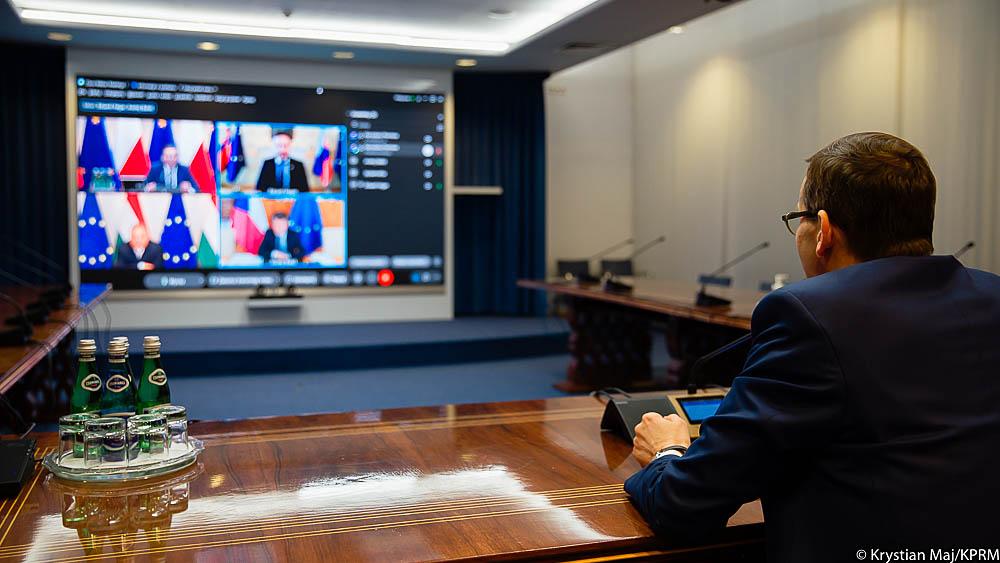 Premier Mateusz Morawiecki przewodził wideokonferencji premierów państw Grupy Wyszehradzkiej
