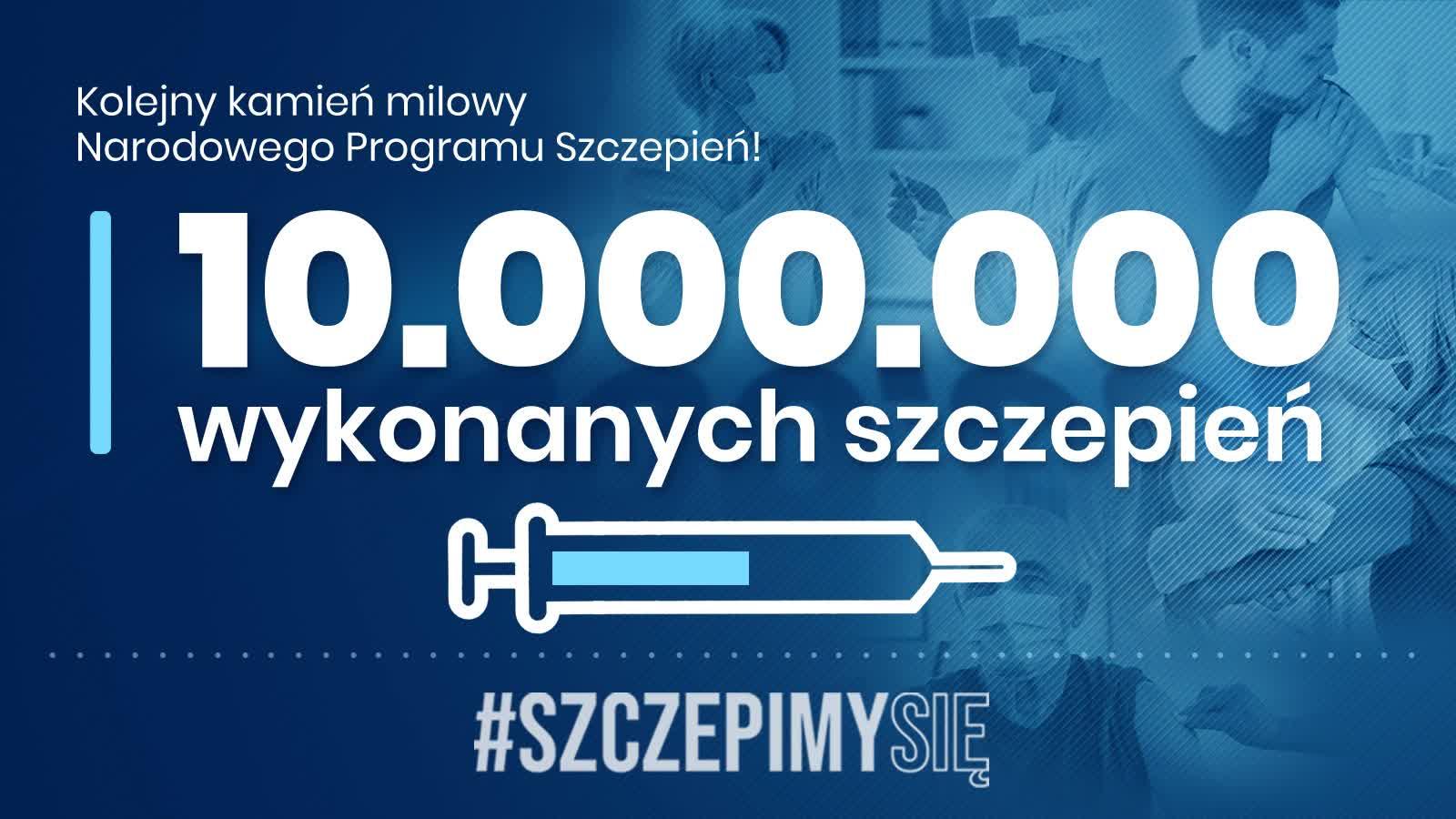 10 000000 wykonanych szczepień!