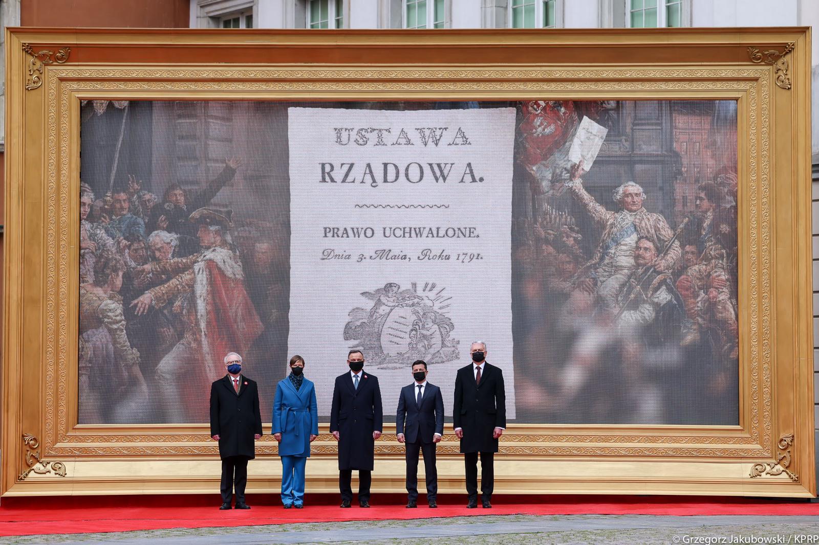 Wspólna deklaracja Prezydentów Polski, Estonii, Ukrainy, Łotwy i Litwy, zgromadzonych w Warszawie z okazji 230. rocznicy uchwalenia Konstytucji 3 Maja