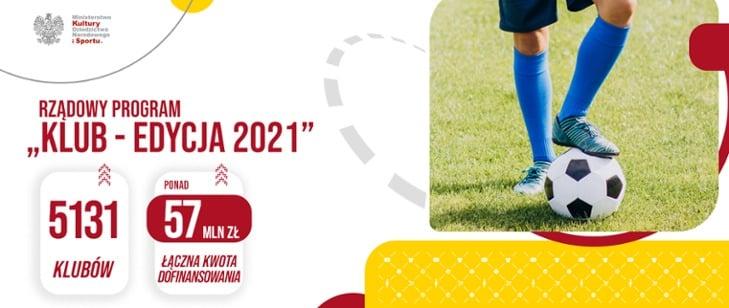Sport to zdrowie, a w zdrowym ciele zdrowy duch. Jesteśmy przekonani, że tak właśnie jest dlatego wspieramy sport powszechny. Dzięki Rządowemu Programowi KLUB ponad 57 mln zł trafi do ponad 5000 małych i średnich klubów sportowych w całej Polsce. Ten rekordowy budżet to ogromne rządowe wsparcie dla gmin.