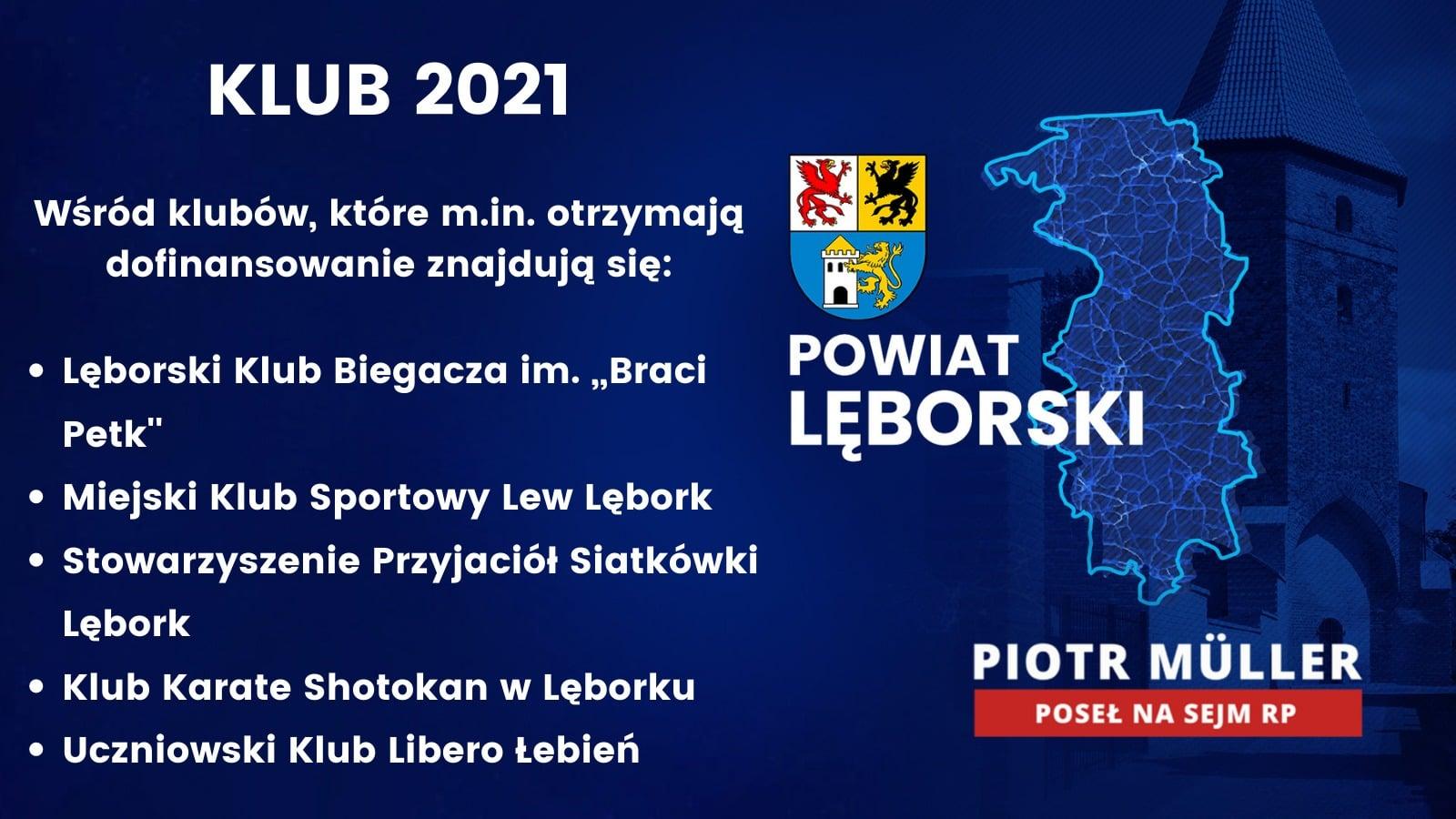Rządowy Program KLUB 2021 w regionie lęborskim